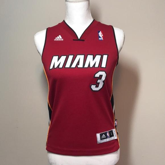 Adidas Shirts Tops Miami Heat Kids Jersey Poshmark